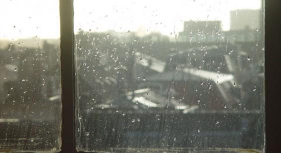 regen op het raam